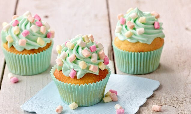 Muffins mit  Mini-Mini-Marshmallows
