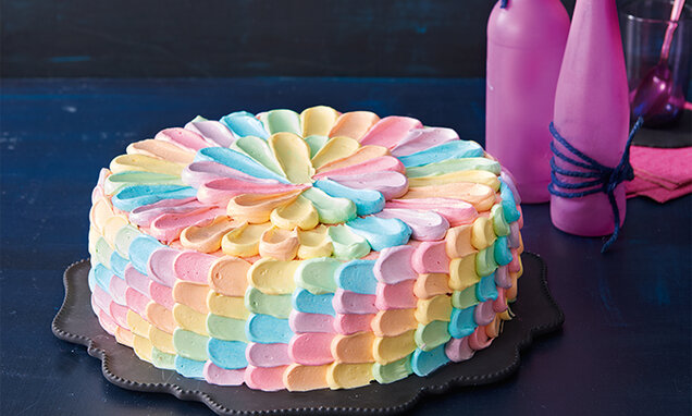 Pink Grapefruit-Rainbow-Torte