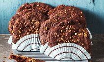 triple chocolate cookies mit chocolate chunks